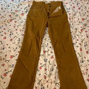Camel Corduroy Bell Bottoms from Madewell